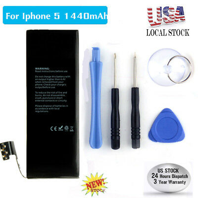 Brand NEW Original OEM Replacement iPhone 5 Li-ion Battery 1440mAh With Free Kit