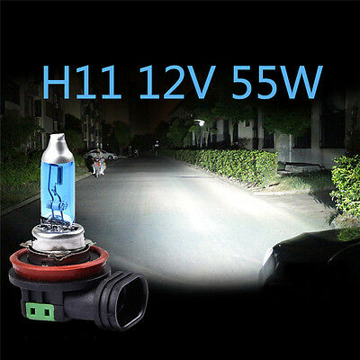 2Pcs H11 12V 55W Bright White 6000K Quartz Halogen Bulb Car Headlight Lamp Light