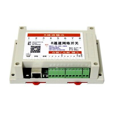 8 in 8 out Network Relay Controller WEB TCP UDP Support Offline Timer MQTT APP