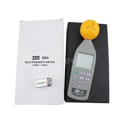 TES-593 ElectroSmog Meter 3 axis Isotropic Measurements EMF Tester 10Mhz 8.0GHz