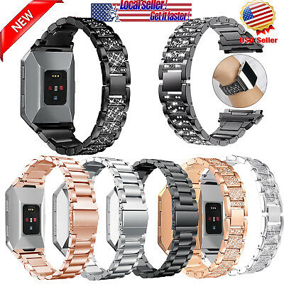 New Fashion Stainless Steel Watch Band Metal Bracelet Strap for Fitbit iONIC