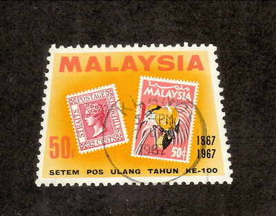 Malaysia--#50 Used--1967 Centennial of Straits Settlements Stamps