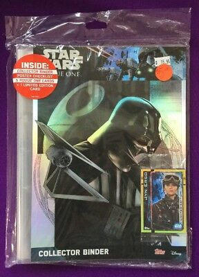 Star Wars Topps ROGUE ONE Trading Card Collector Binder ALBUM