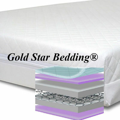 Fits M/&P Cots 300 Size Baby Best Buys MAISY-300 MAISY Superior Sprung//Spring Cot Mattress 127x63cm