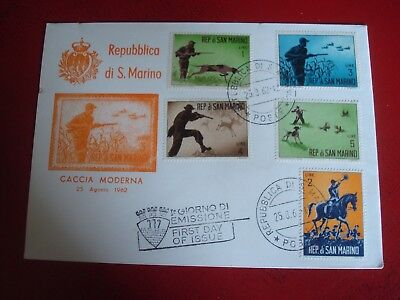 San Marino - 1962 Hunting - First Day Cover