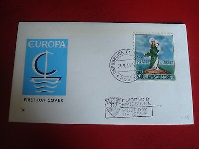 San Marino - 1966 Europa - First Day Cover