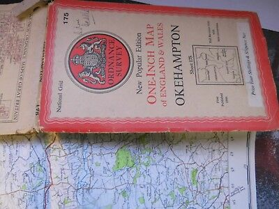 Okehampton And Dartmoor Devon:1930-46-War Decade Map-Series 6 Os.used By Soldier