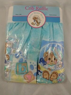 "Riegel Teddy Beddy Bear Crib Dust Ruffle Fits 28"" x 52"""