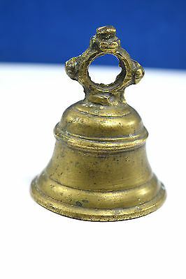 Rare Vintage High Age Brass Ritual Temple Bell, Good Sound. G70-240