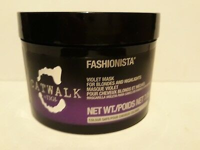 Tigi Catwalk Fashionista Violet Mask for HAir 200g for Blondes and Highlights