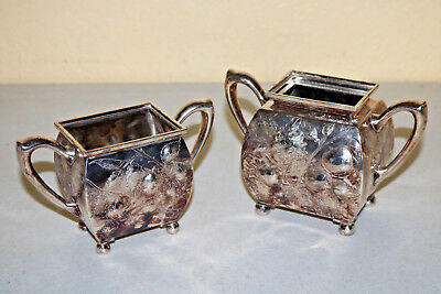 vintage Rodgers silver bowls Square rectangular containers boxes STeAM Cute
