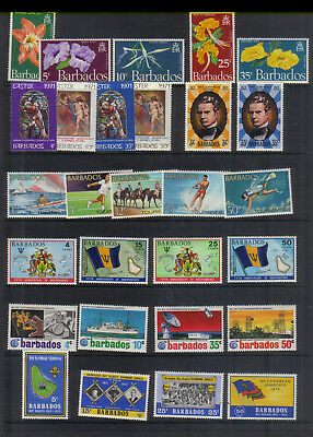 Barbados 1970-72 Seven sets lightly mounted mint