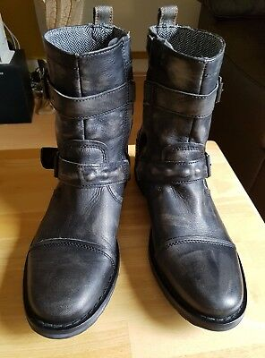 Men's River Island Nushu Ankle Leather Boots Size 42/8