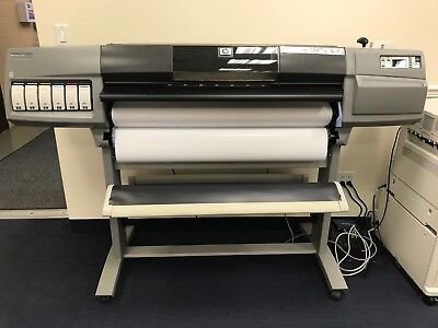 """HP DesignJet 5500 5500PS 42"""" Large Format UV Inkjet Printer w/Stand AS-IS"""