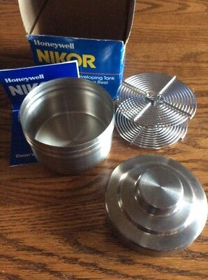 Honeywell Nikor Stainless 35mm steel film single Developing Tank and Reel