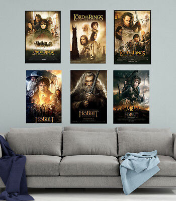 Lord Of The Rings Poster Set (6) LARGE 24X36 POSTERS | Premium Poster Paper