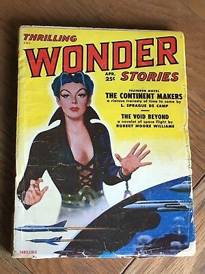 Thrilling Wonder Stories US SF Pulp - April 1951 - L. Sprague de Camp etc