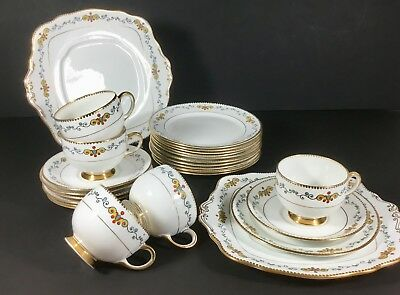 RoyaL Albert China Pattern AVENUE English Afternoon tea party cups saucers 1930