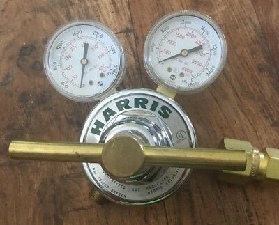 Harris Model No. 25-200 Regulator 650L w/ USG 400 PSI Gauge & 4000 PSI Gauge