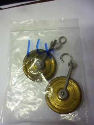 Pair Used Good Quality 8 Day Grandfather Clock Weight Pulleys (14)