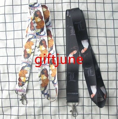 NEW 10PCS Cartoon  Death Note Lanyard Neck Strap Cell Phone Rope Lanyards Gift