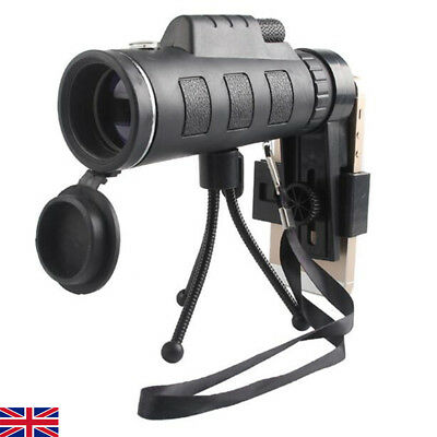 40X60 Zoom Monocular Telescope HD Optical Lens + Tripod + Clip For Mobile Phone
