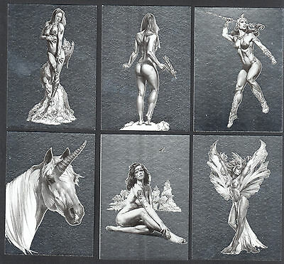 BORIS VALLEJO & JULIE BELL: STROKES OF GENIUS 2003 Complete FOIL CHASE CARD SET