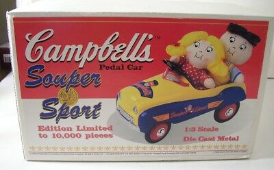 NIB 1996 Campbell`s Souper Sport Pedal Car 1;3 Scale Die Cast-Limited Edition