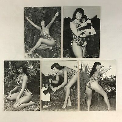 "BETTIE PAGE: THE QUEEN OF CURVES Complete ""IN JUNGLE LAND"" Chase Card Set"
