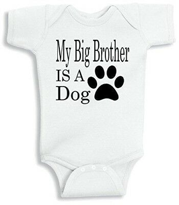 Lil Shirts My Big Brother Is A Dog Baby Bodysuit