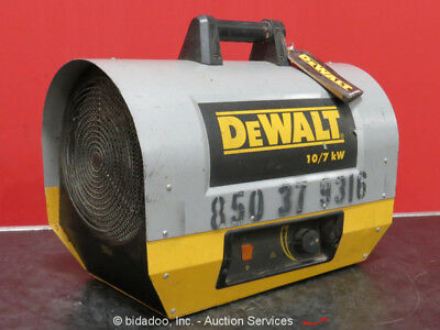 DeWalt DXH1000TS Forced Air 10,000W Jobsite Construction Heater 240V 1PH bidadoo