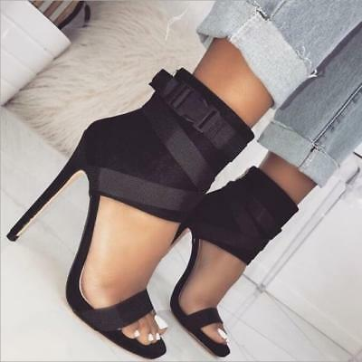 Fashion Women Open-Toe Ankle Boots High Heels Shoes Ladies Bandage Sandals Party