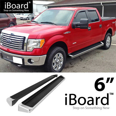 F150 Supercrew Cab >> Running Board Style Side Step 6in Silver Fit Ford F150