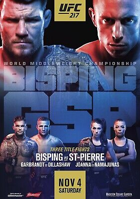 UFC 217 Michael Bisping v Georges St-Pierre PHOTO Print POSTER GSP Dillashaw MMA