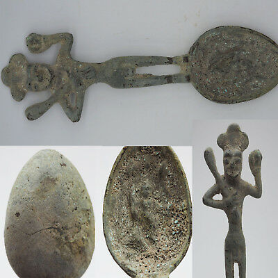 Wonderful Extremely Rare Museum Quality Roman Medal Bronze Spoon#sh1300
