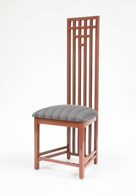 Charles Rennie Mackintosh Dining Chairs in Sonia Rykiel Fabric, Set of Six