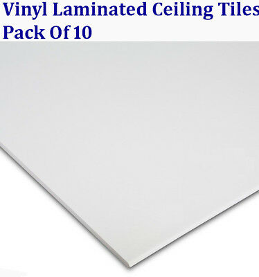 """Easy Clean Suspended Vinyl Ceiling Tiles 600 x 600 Laminated 10/ Box 595mm (24"""")"""