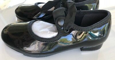 So Danca  Tap Dance Shoes Girl's Black Size N 8 1/2S New  Youth