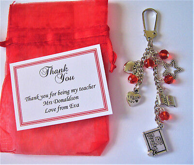 Teacher Thank You Keyring / Teaching Assistant / Nursery /End of Year - Personal