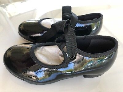 So Danca  Tap Dance Shoes Girl's Black Size N 7 1/2 S New  Youth