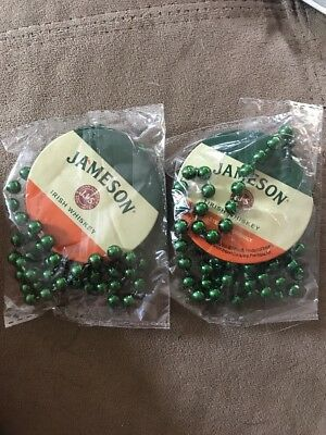 2 Brand NEW Jameson Irish Whiskey Party Beads for St. Patrick's Day