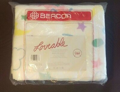 """BEACON Loveable baby blanket 40x45"""" NEW polyester/acrylic"""