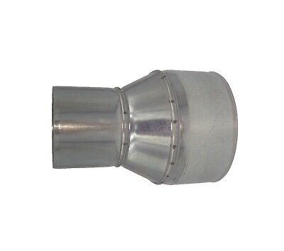 Galvanised Steel Pipe Reducer Tubing Connector Chimney Flue Liner Adaptor