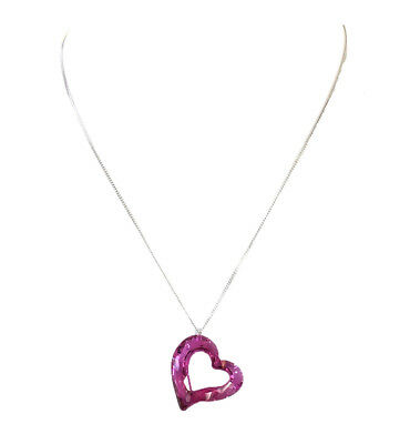 Swarovski Loveheart Heart Crystal Pendant Necklace Pink Boxed NWT $140 1087208