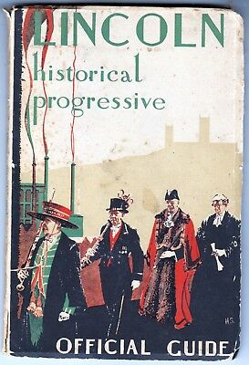 LINCOLN c1930s OFFICIAL GUIDE - Photos - Period Advertising - Maps - 56 pages