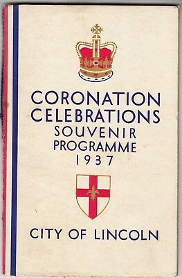 LINCOLN - 1937 Coronation Souvenir Programme - Illustrated - 25 pages