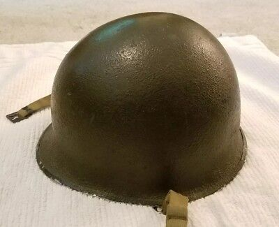 WW2 US Army M1 Steel Helmet Shell - with liner  Stamped 28