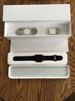 Apple Watch Sport 38mm Aluminum Case Black Sport Band - (1st gen - 7000 series)