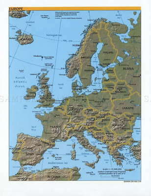 111072 Map Political Cia 2000 Europe Old Historic Large Wall Print Poster Au