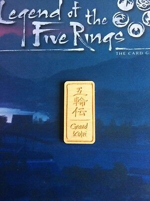 Legend of the Five Rings First Player Token Grand Kotei L5R Promo Official LCG